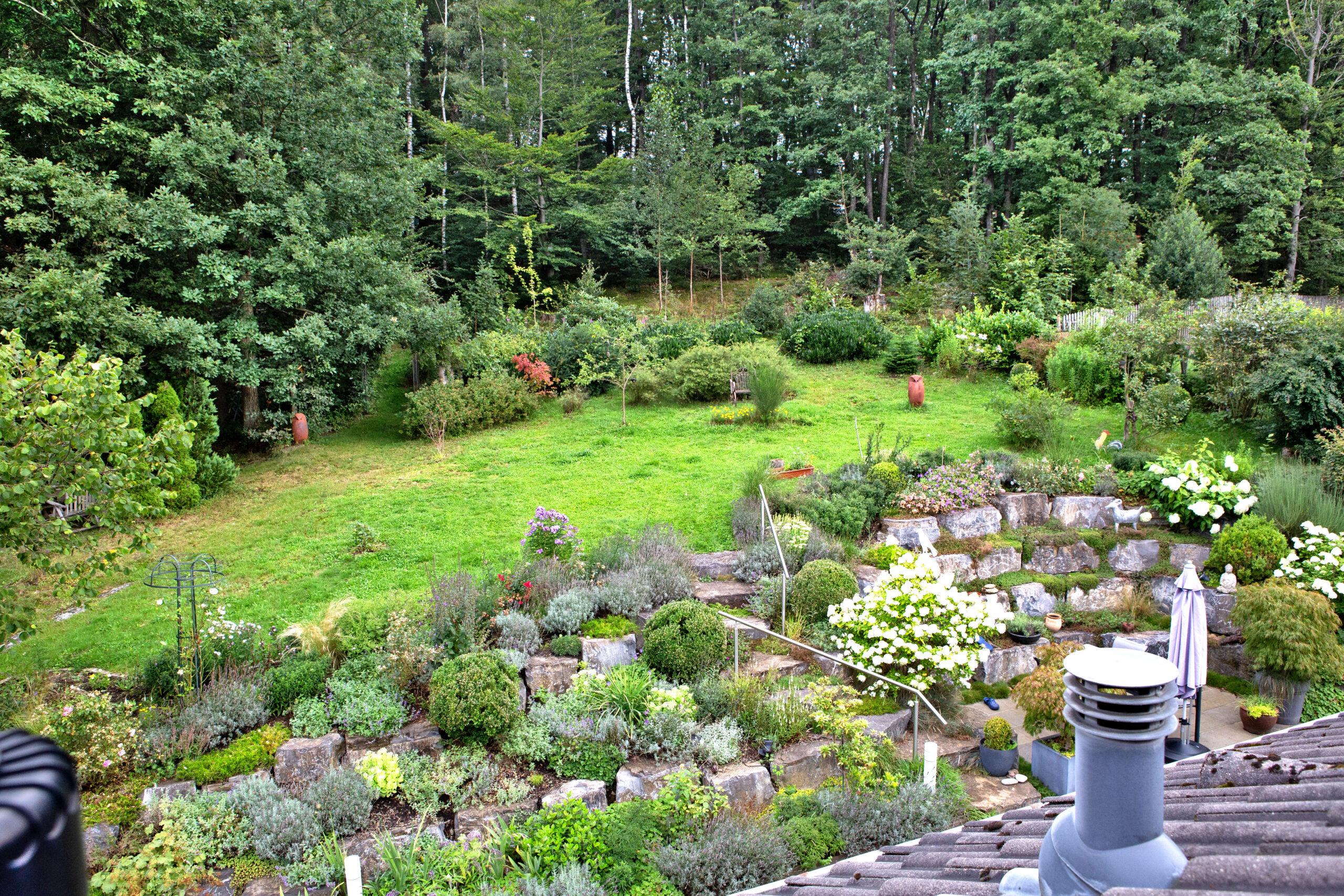 Der gesamte Garten auf einen Blick.