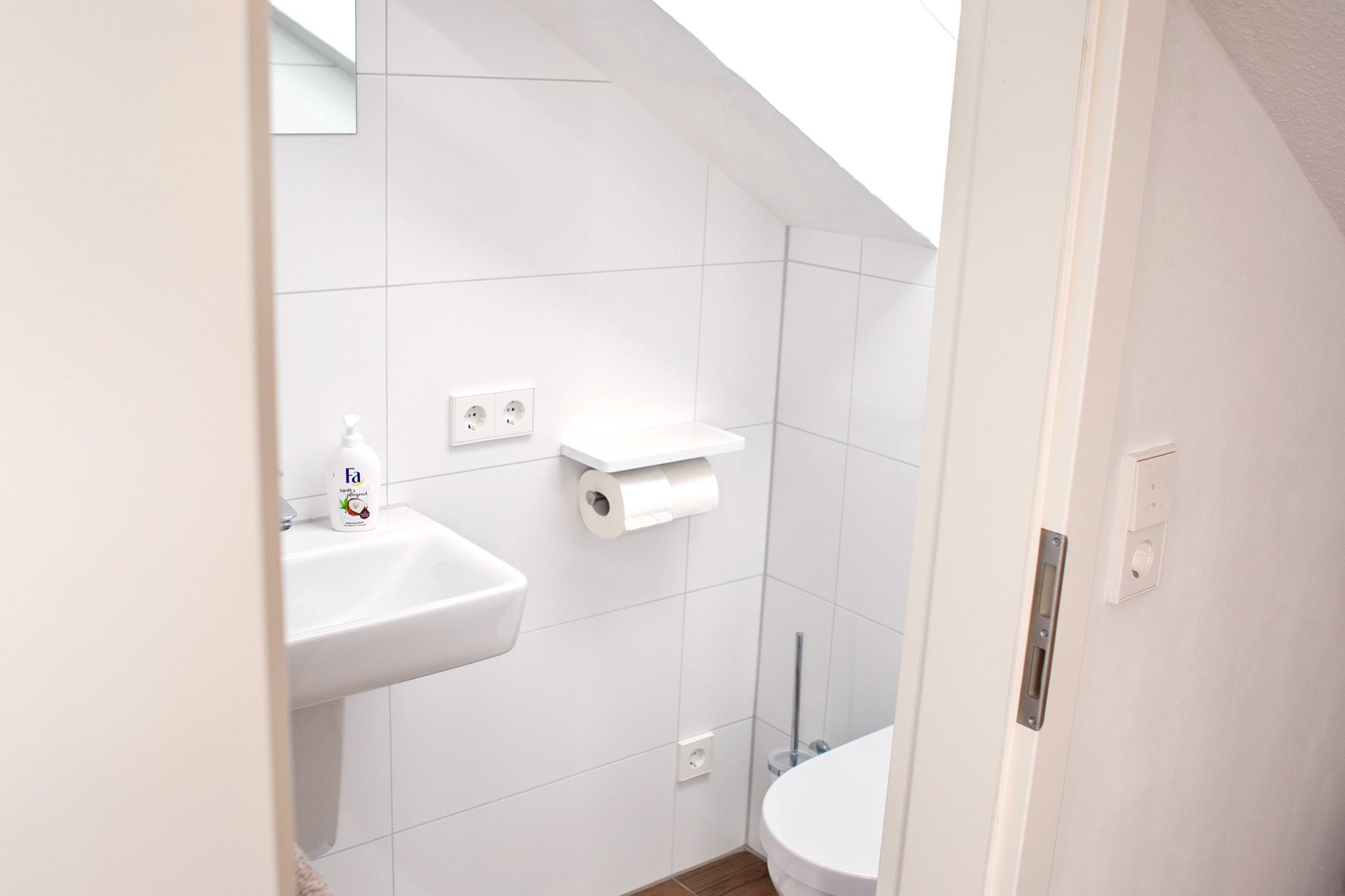Das Gäste-WC im Apartment.