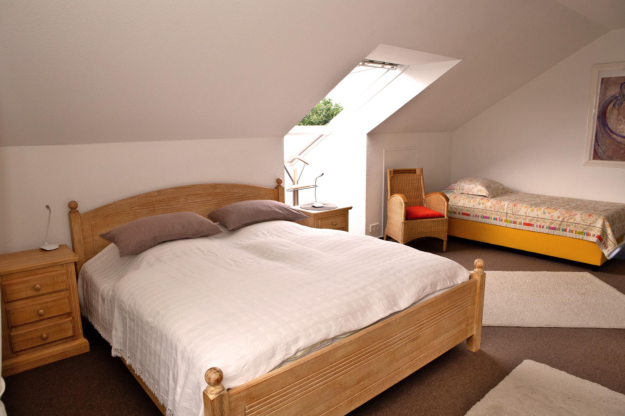Ein Schlafzimmer für die erholsamen Nächte..